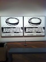 Hamburger 1985-86 Acrylic paint and silkscreen