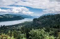 Overlooking the Columbia Gorge.