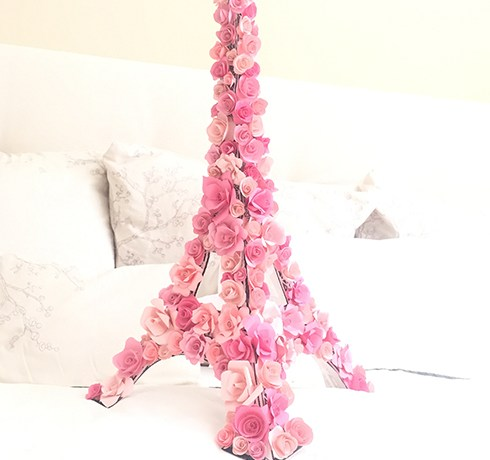 Paper flower backdrop ash and crafts springtime in paris mightylinksfo