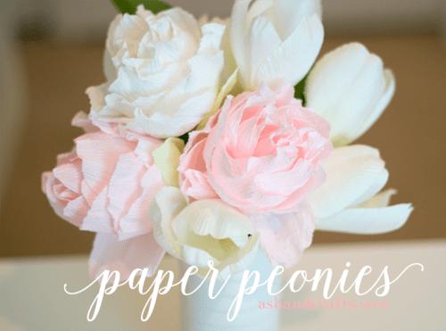 Realistic Crepe Paper Peonies Tutorial
