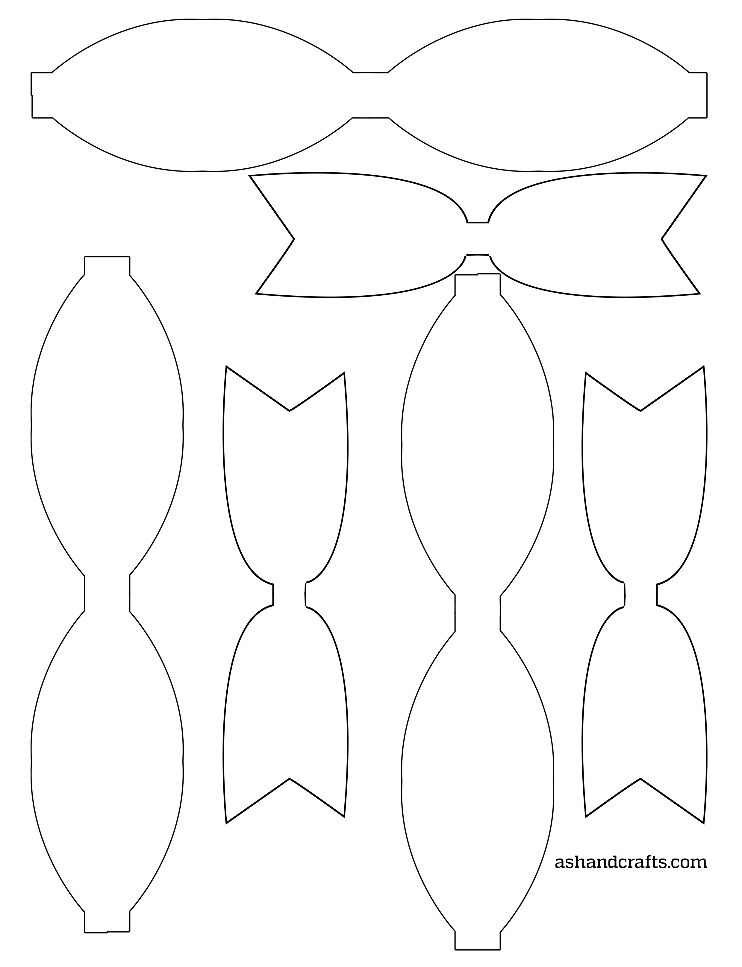 image regarding Free Printable Hair Bow Templates identified as Freebie Friday: Printable Paper Bows - Ash and Crafts