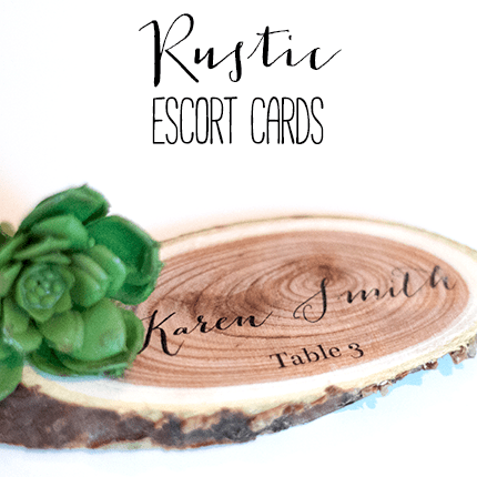 Rustic Wedding Escort Cards Tutorial | ashandcrafts.com
