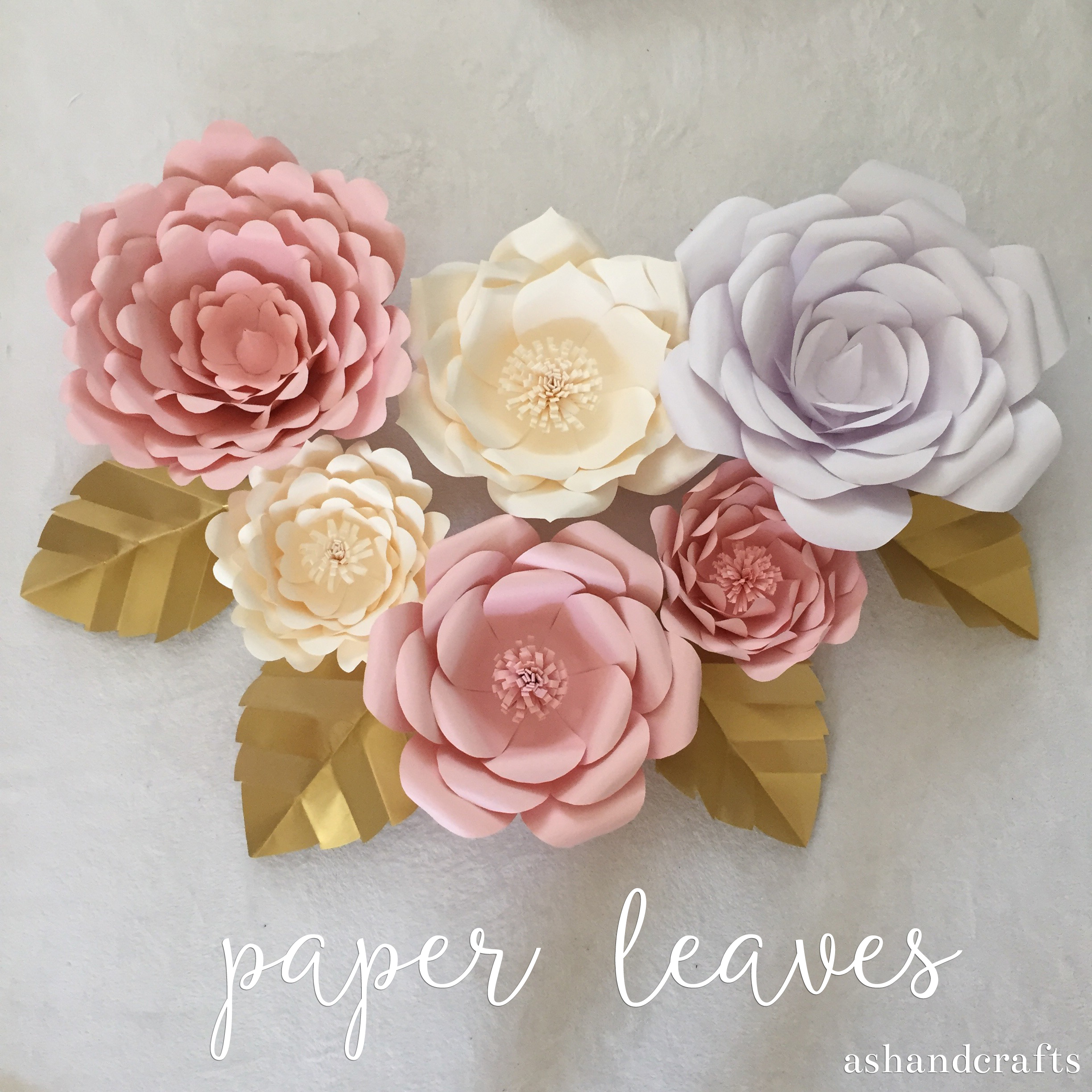 Paper Leaves Ash And Crafts Rose Flower Diagram Origami Leaf Tutorial