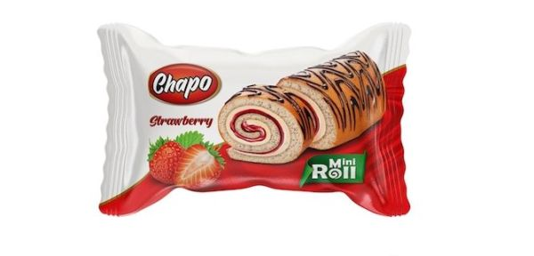 Chapo Kek Mini Roll 50 gr Strawberry