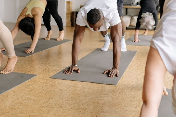 Yoga class with Afro Influences