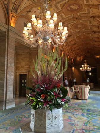 The centerpiece at the Breaker's hotel