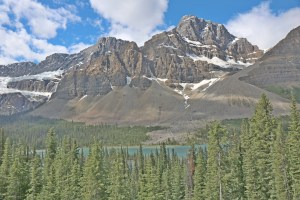 On the way to Jasper. The road is pecked with many such impeccable sights.