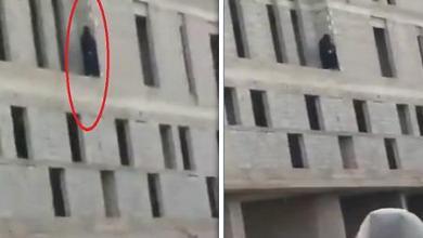 محاولة إنتحار فتاة سعودية من أعلى مبنى فى الرس