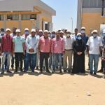 زيارة العاملين بشركة مياه الأقصر لمشروع توسعات معالجة مياه الصرف الصحى بالحبيل