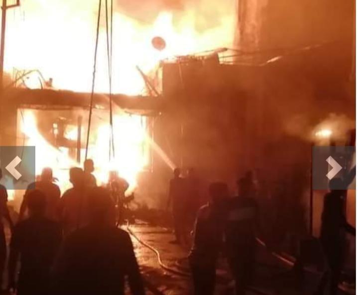 الجيزة : حريق فى مخبز بقرية البرمبل بمركز أطفيح جنوب المحافظة