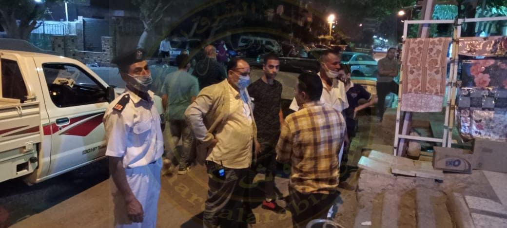 حي المعصرة يتبع إلتزام اصحاب المحال التجارية لقرارات غلق المحال من الساعة التاسعة مساء