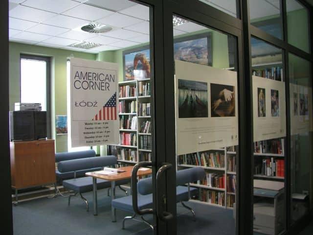 American corner library