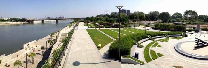 View of Riverfront Flower Park