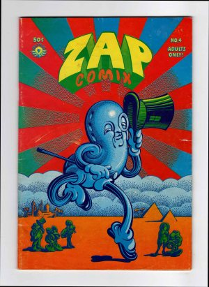 Zap Comix 4 (2nd Print)—Front Cover