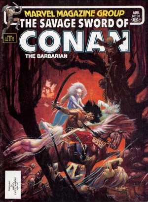 Savage Sword of Conan 91—Front Cover