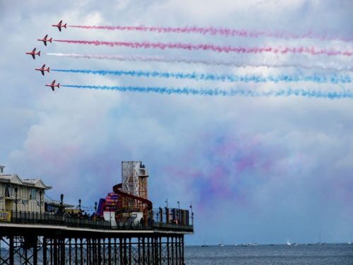 Red Arrows at Torbay Airshow Paignton Pier