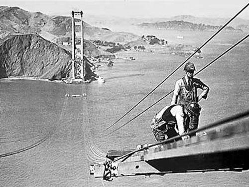 Construction of the Golden Gate Bridge 1935