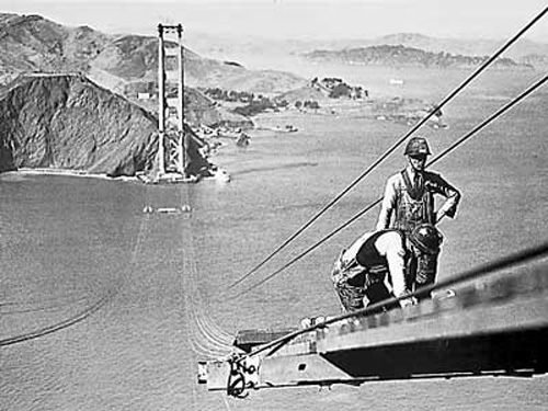 Construction of the Golden Gate Bridge 1935