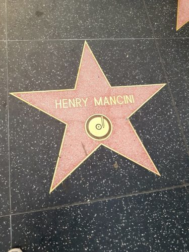 Henry Mancini Walk of Fame, Hollywood Los Angeles