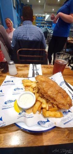Fish 'n' Chips, Simply Fish - Brixham 2019