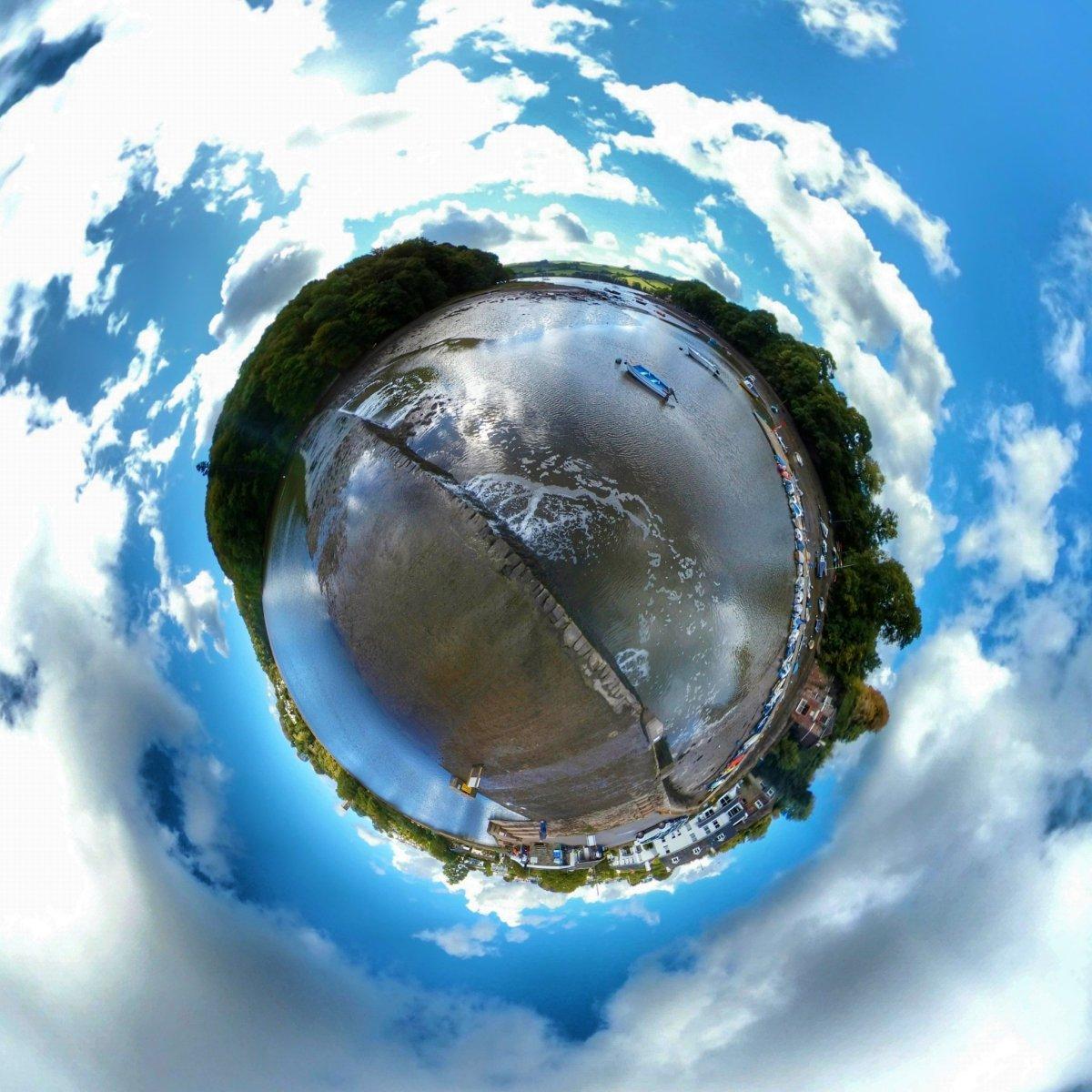 Stoke Gabriel dam, Paignton, Tiny Planet