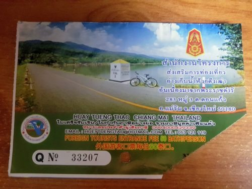 Ticket Huay Tung Tao Lake, Chiang Mai