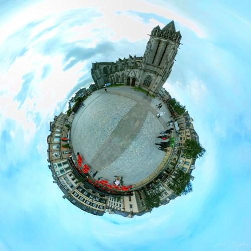 Quimper, France Tiny Planet