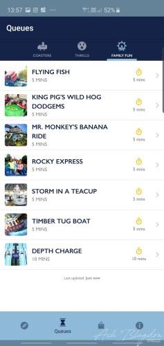 Thorpe Park Family Fun Ride List