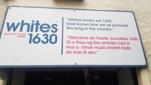 White's Tavern Belfast, Northern Ireland