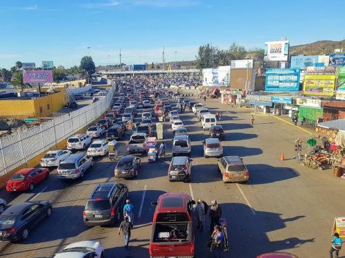 Border Traffic Tijuana Mexico