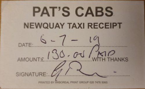 Extortionate Taxi Fare Perranporth