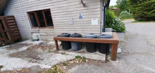 Trethiggey Holiday Park Water tap, bins & blocks