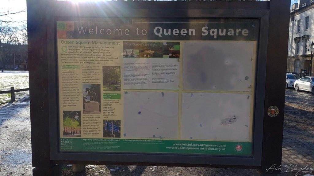 Bristol Queens Square sign