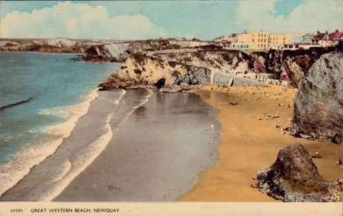 Great Western Beach, Newquay, Cornwall, History 1962