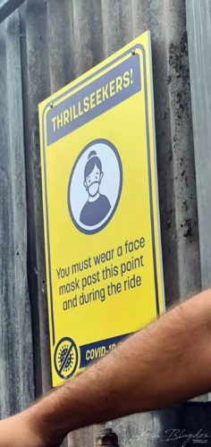 Face Masks must be worn on rides Thorpe Park 2020