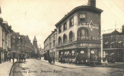 Courtenay Street 1906, Newton Abbot - History