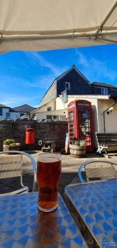 beer and telephone box