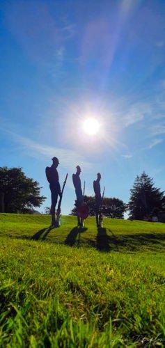 Silhouette of soldiers Princetown Dartmoor Normal