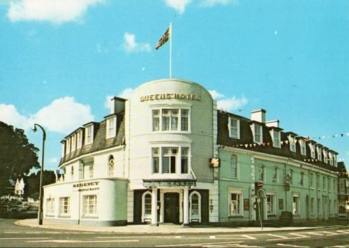 Queens Hotel 1970s, Newton Abbot - History