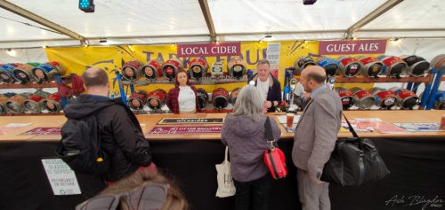 Beer tent Exeter Food Festival 2019