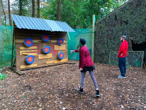 Axe Throwing at Skirmish Exeter, 2018