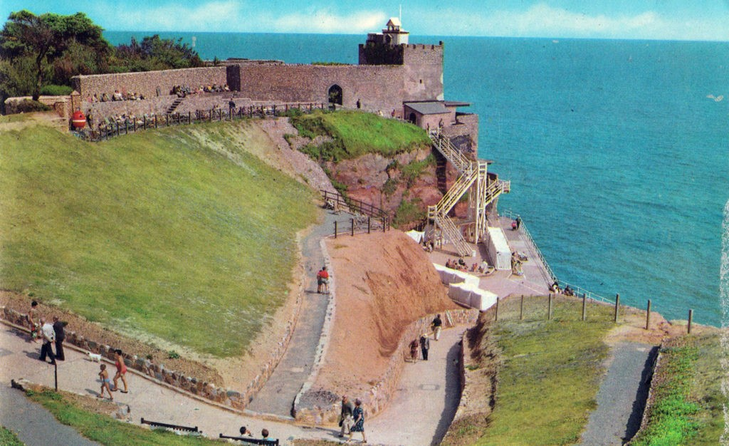 1960s....Jacobs Ladder shortly after the new slipway was opened Sidmouth History