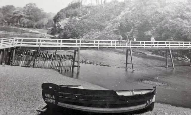 Alma bridge built from the wreck of the ship Laurel in 1885, Sidmouth History