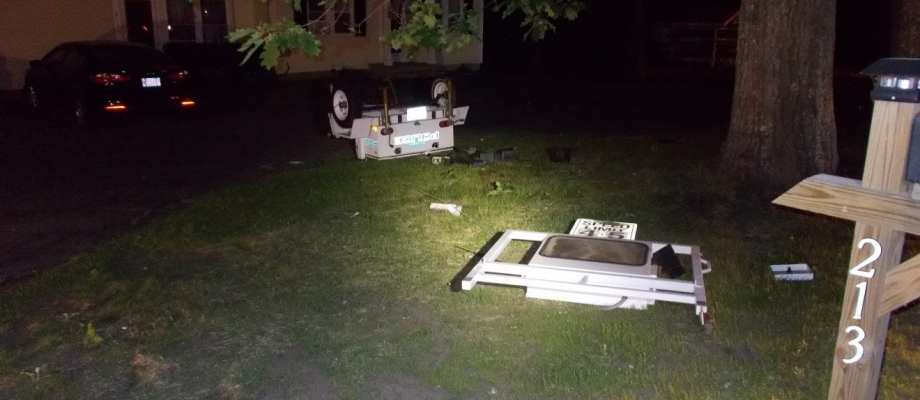 Ashby Police Cite Man Following Collision With Radar Trailer