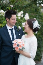 Roses, Lavender, bouquet, smile, happy