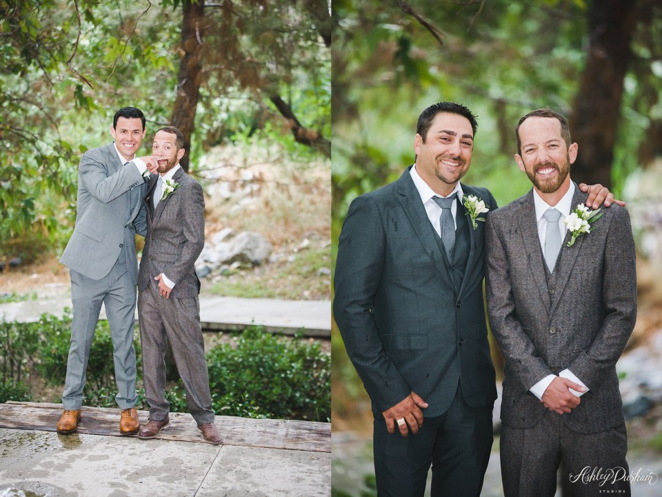 green mountain ranch, mismatching groomsmen suits, simple grooms suits, mustache finger tattoo