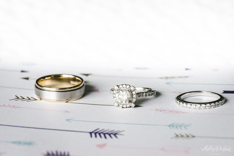 Green Mountain Ranch Wedding, wedding ring with invitation