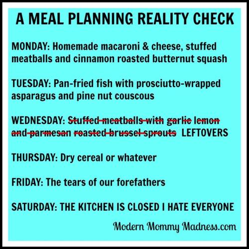 meal planning reality check,