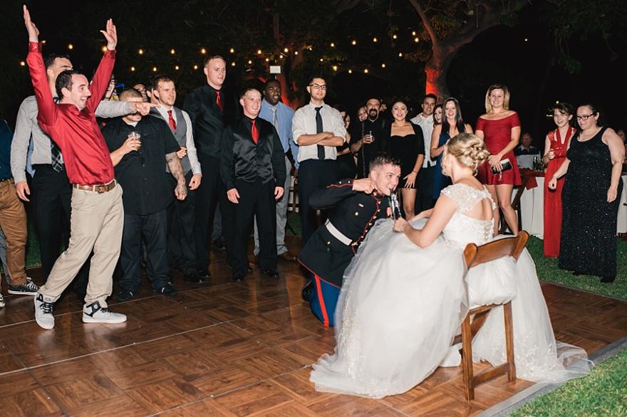 fun dancing photos from wedding receptions, garter toss