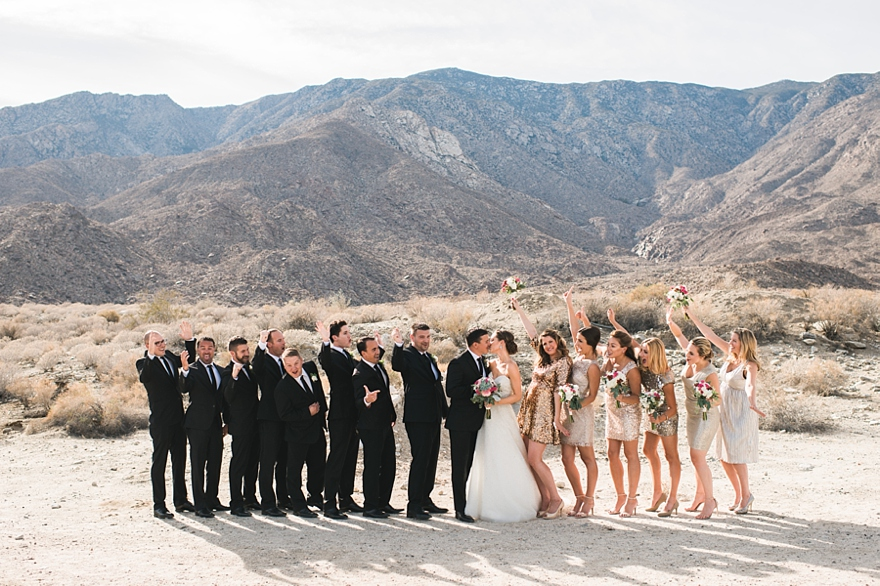 palm springs wedding, gold and black wedding, gold and pink wedding, desert wedding